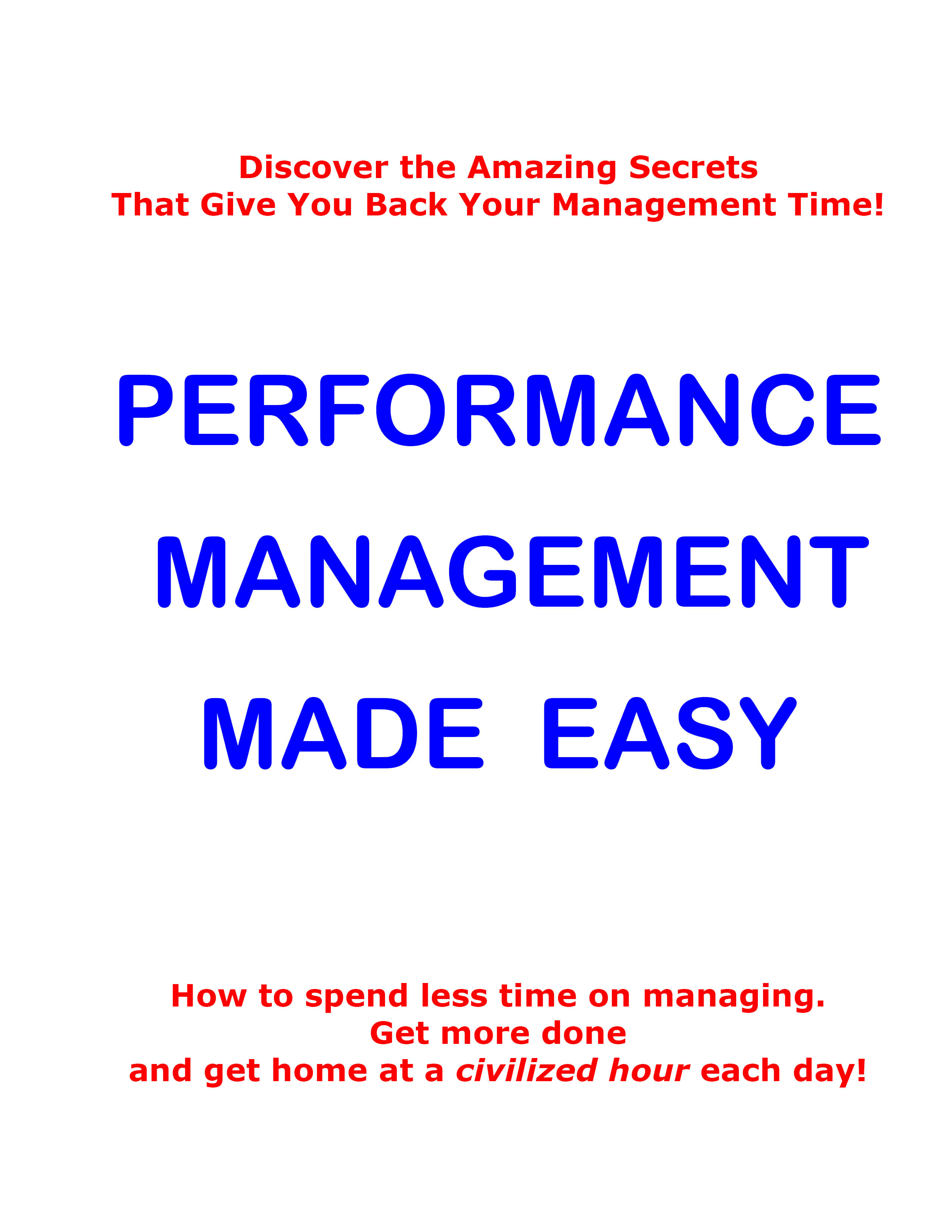 Performance Management Made Easy Image