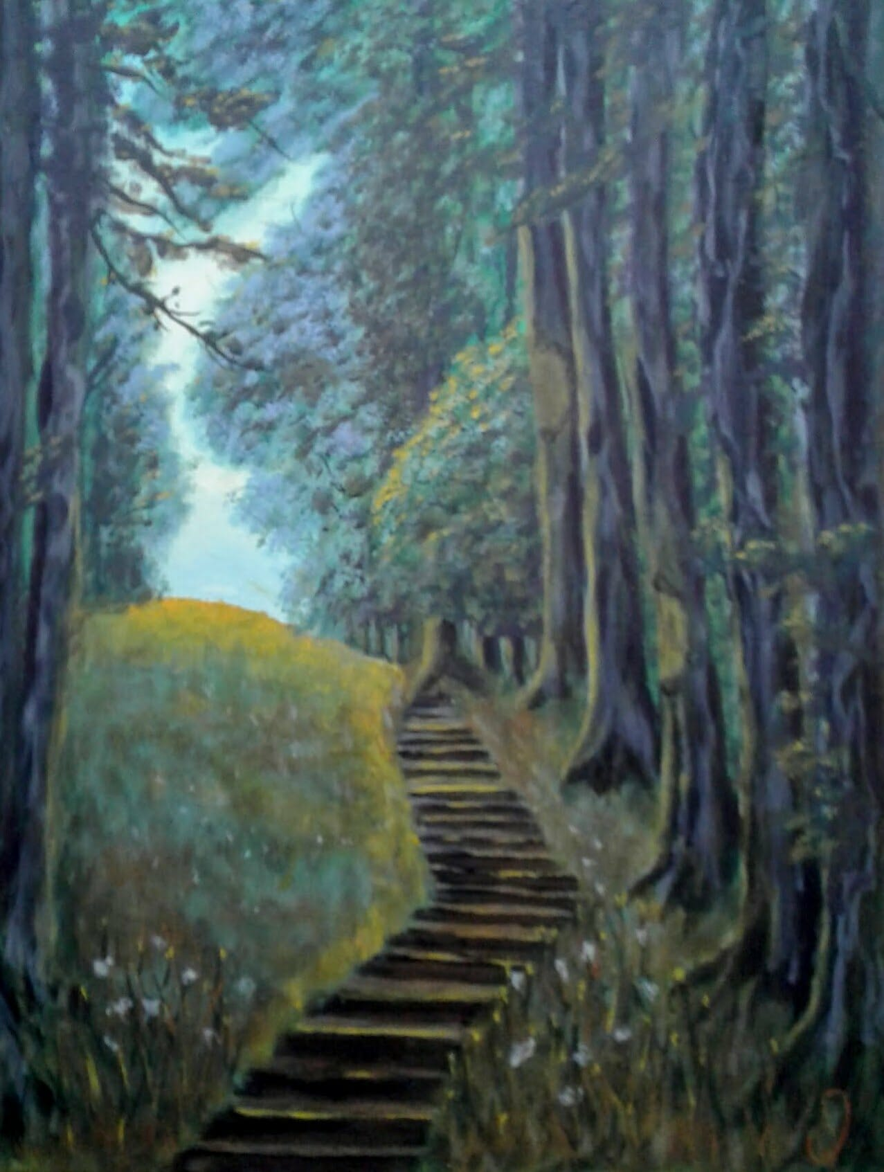 Stairs In A Forest Image
