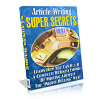 Article Writing Super Secrets Image